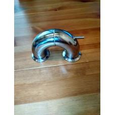 Отвод 180 градусов с гильзой для термометра